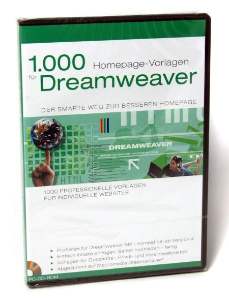 PC-Software 1000 Dreamweaver Vorlagen für die eigene Homepage Webseite Website Homepagegestaltung